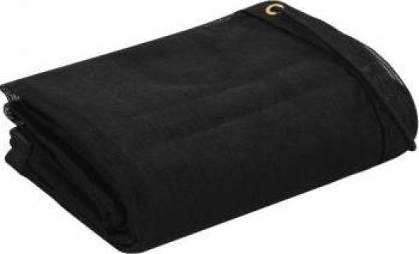 Plasa de remorca, negru, 1,5 x 2,7 m, HDPE de la Vidaxl