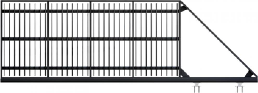 Poarta autoportanta din teava profilata GP99 de la GarduriMD Srl