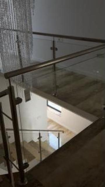 Balustrada de inox si sticla