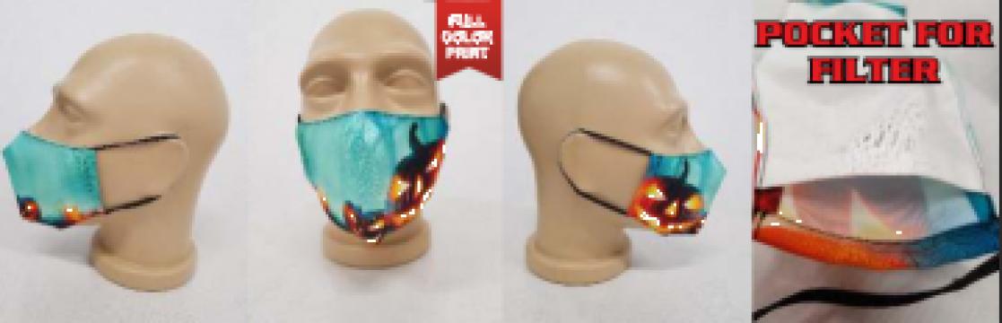 Masca reutilizabila cu buzunar pentru filtru de la Media Concept Srl