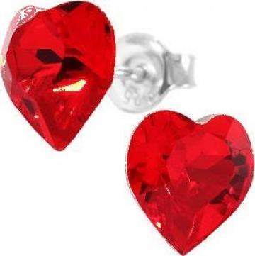 Cercei argint 925 si swarovski Heart Ligt Siam