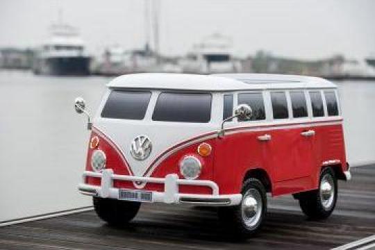 Jucarie Masinuta electrica 2 copii Vw Samba Bus 90W 12V