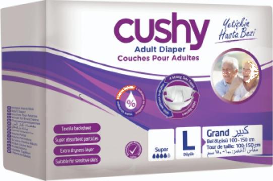 Set scutece adulti, Cushy, Marimea L - Large, 120 buc/set