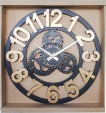 Ceas decorativ industrial, fixare perete, cifre arabe de la Artemis Srl