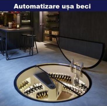 Capac electric pentru beci - kit automatizare