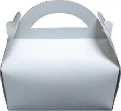 Cutie alba prajituri 17x17x12,5cm 25 buc/set de la Cristian Food Industry Srl.