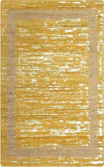 Covor manual, galben, 80 x 160 cm, iuta de la Vidaxl
