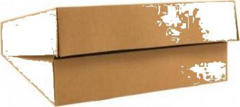 Cutie carton kraft natur prajituri 23x23x5cm,25 buc/set de la Cristian Food Industry Srl.