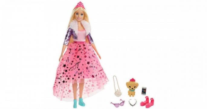 Papusa Barbie Princess Adventure - Printesa Barbie Deluxe de la Pepita.ro