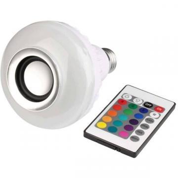 Bec led Smart Bluetooth cu difuzor 12W si telecomanda