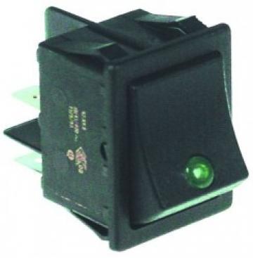 Buton verde basculant 30x22mm, 2NO