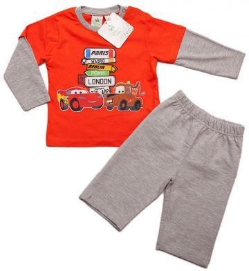 Compleu bebe baieti, Cars, bumbac, portocaliu cu gri de la A&P Collections Online Srl-d