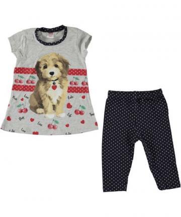 Compleu fete, Puppy, tunica si pantaloni, bumbac