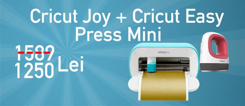 Masina de taiat si scris Cricut Joy + Cricut EasyPress Mini de la R&A Line Trade SRL