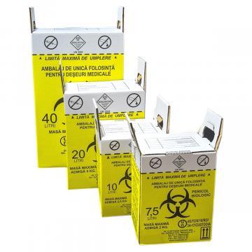 Cutie incinerare deseuri infectioase - 40 litri (1 buc)