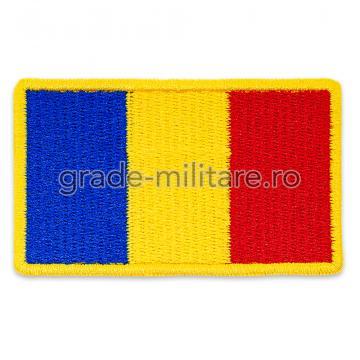 Drapel Romania contur galben 75x45 mm de la Hyperion Trade