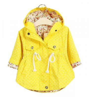 Geaca eleganta bumbac, fete, galben de la A&P Collections Online Srl-d