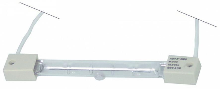 Lampa infrarosu, 220-240V, 300W, L 122mm de la Kalva Solutions Srl