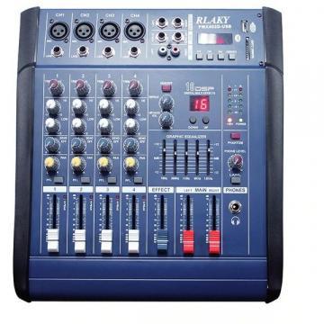 Mixer audio profesional amplificat 200W cu 4 canale