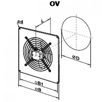 Ventilator axial OV 4E 450