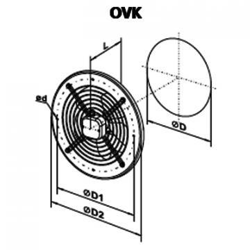 Ventilator axial OVK 4D 350
