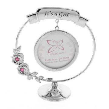 Ornament rama foto cu cristal Swarosvki It's a Girl
