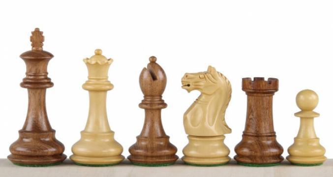 Piese de sah lemn Staunton 6 Oxford de la Chess Events Srl