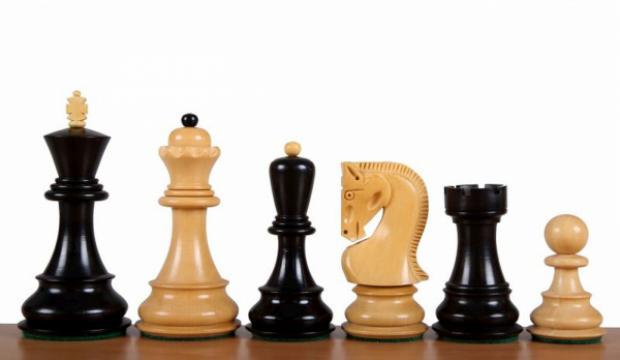Piese sah din lemn Staunton 6 Zagreb, ebonised de la Chess Events Srl