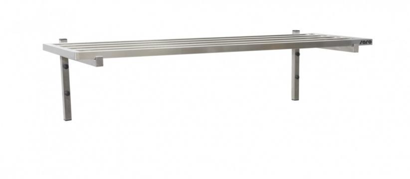 Polita de perete cu stalpi, 1200mm de la Clever Services SRL