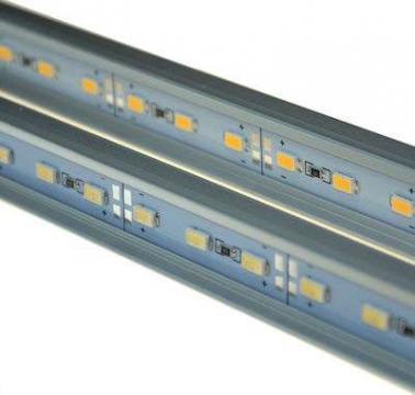 Profil aluminiu banda LED, 72 LED-uri
