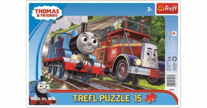 Puzzle Trefl de 15 piese - Tomas si Flynn
