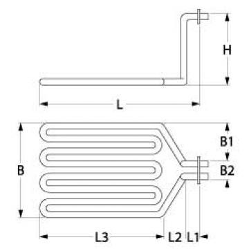 Rezistenta 3600W, 230V, 295mmx180mmx175mm