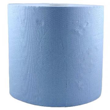 Rola prosop hartie albastra, 2 straturi, 26cmx296m