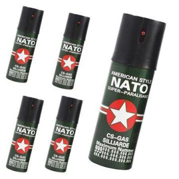 Set spray autoaparare lacrimogen 5 bucati 60 ml