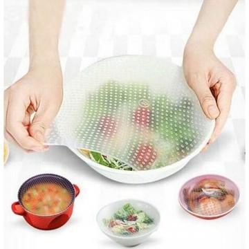 Set de 4 folii alimentare din silicon reutilizabile, Stretch de la Startreduceri Exclusive Online Srl - Magazin Online - Cadour
