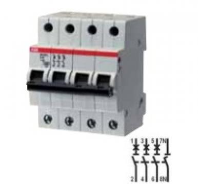 Siguranta automata 4P, 25A ABB SH204L-C25