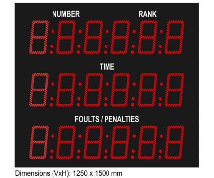 Tabela electronica afisare rezultate competii ecvestre D250