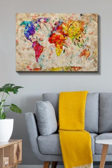 Tablou decorativ, Wallity, canvas, 1 piesa, multicolor