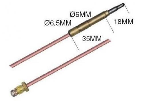 Termocupla L=500 mm, cap 6,0 (6,5) mm de la Kalva Solutions Srl