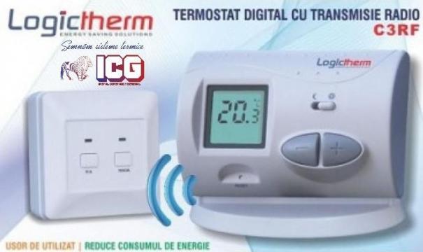 Termostat de ambient fara fir Logictherm C3RF de la ICG Center