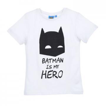 Tricou baieti, Batman, bumbac, alb de la A&P Collections Online Srl-d