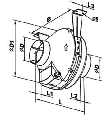 Ventilator centrifugal VK 200