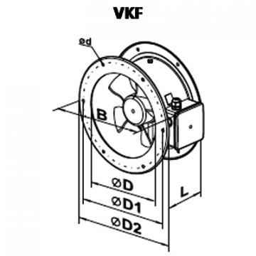 Ventilator axial VKF 4E 450
