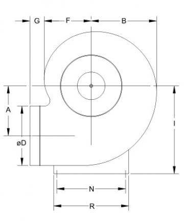 Ventilator centrifugal mediu coroziv MBP 40 T6 1/3