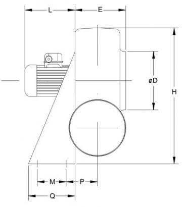 Ventilator centrifugal mediu coroziv MBP 45 T2 4Kw