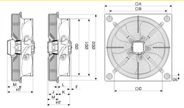 Ventilator axial HXTR/4-560