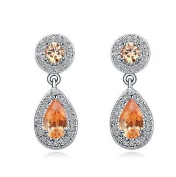 Cercei cu cristale Champagne and Diamonds de la Luxury Concepts Srl