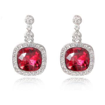 Cercei cu cristale Swarovski Ruby - Parure Milano
