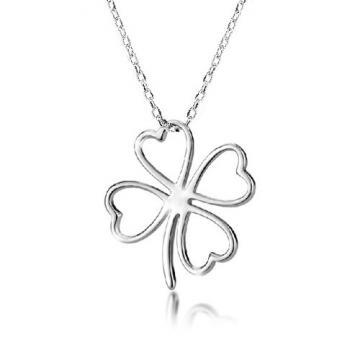 Colier din argint - Lucky Leaf