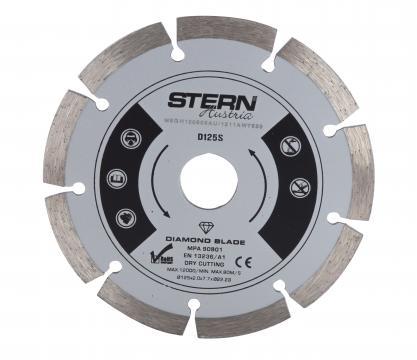 Disc diamantat taiere uscata Stern 125 mm de la Micul Gospodar